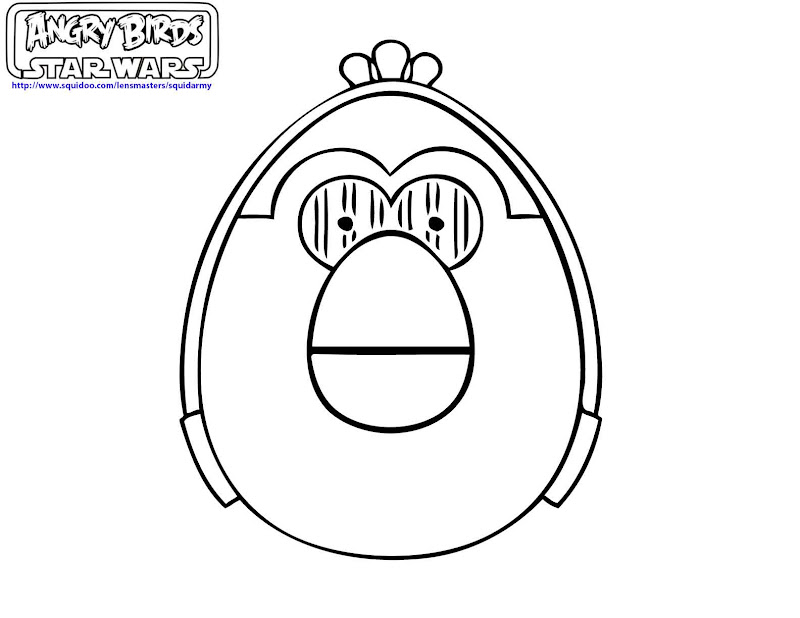 birds star wars coloring pages angry birds star wars coloring pages  title=