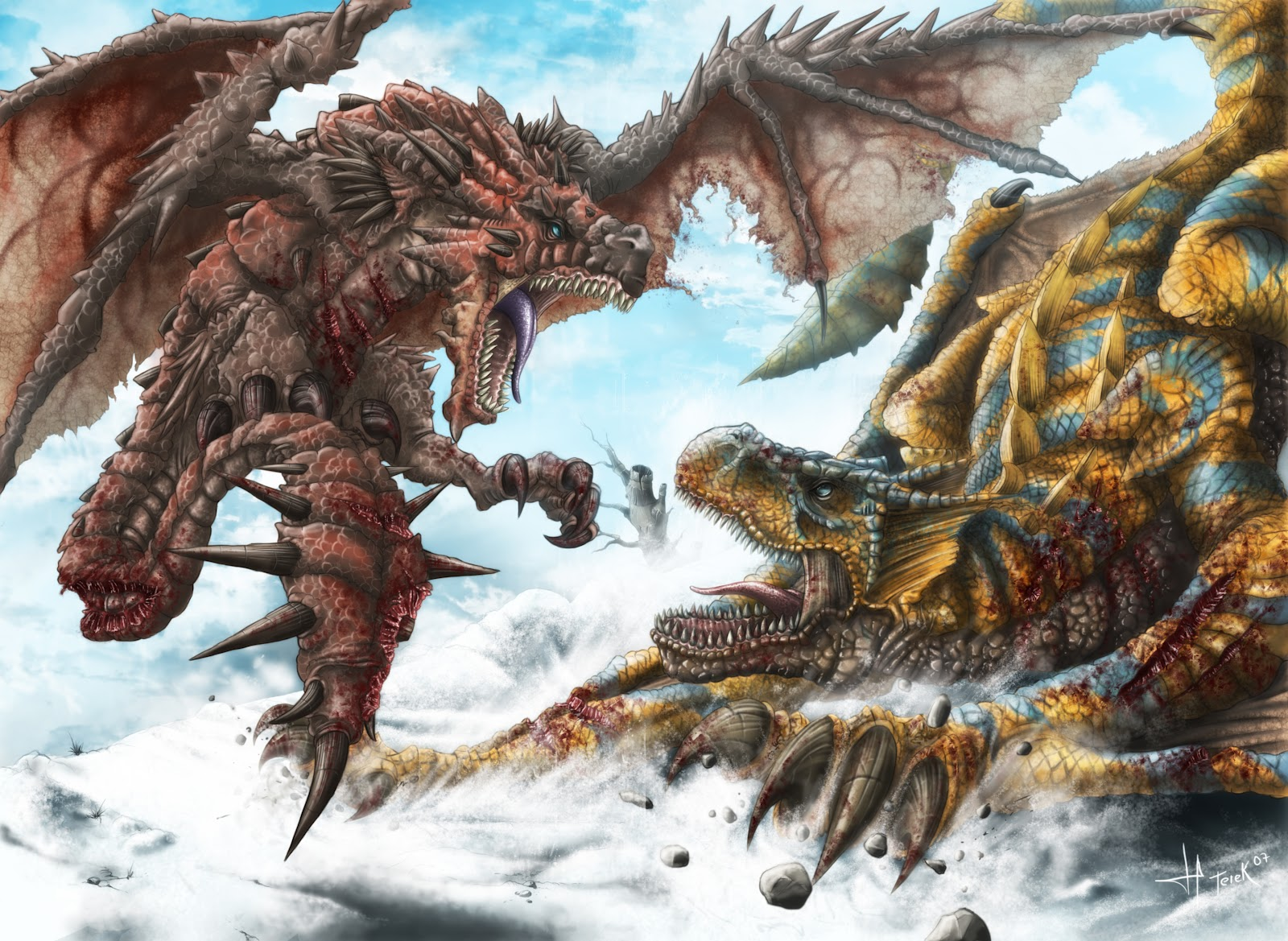 Background image vs img - Monster Hunter Freedom 2 Rathalos Vs Tigrex Wallpaper Background Capcom Action Rpg Role Playing Game Img Image Picture Pic