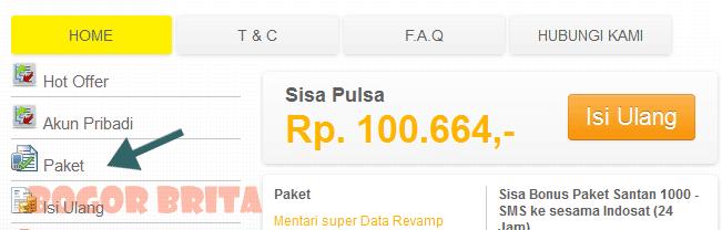 Paket Extra Kuota Indosat Mentari