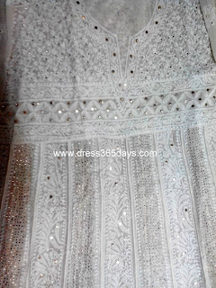 Wedding Pure Georgette Chikan Anarkali