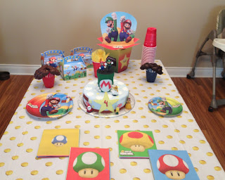 mario birthday boy party cake
