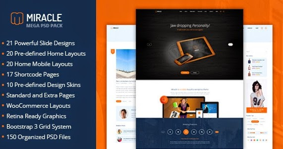 Download Miracle - Mega PSD Pack (Corporate) - Download New Themes