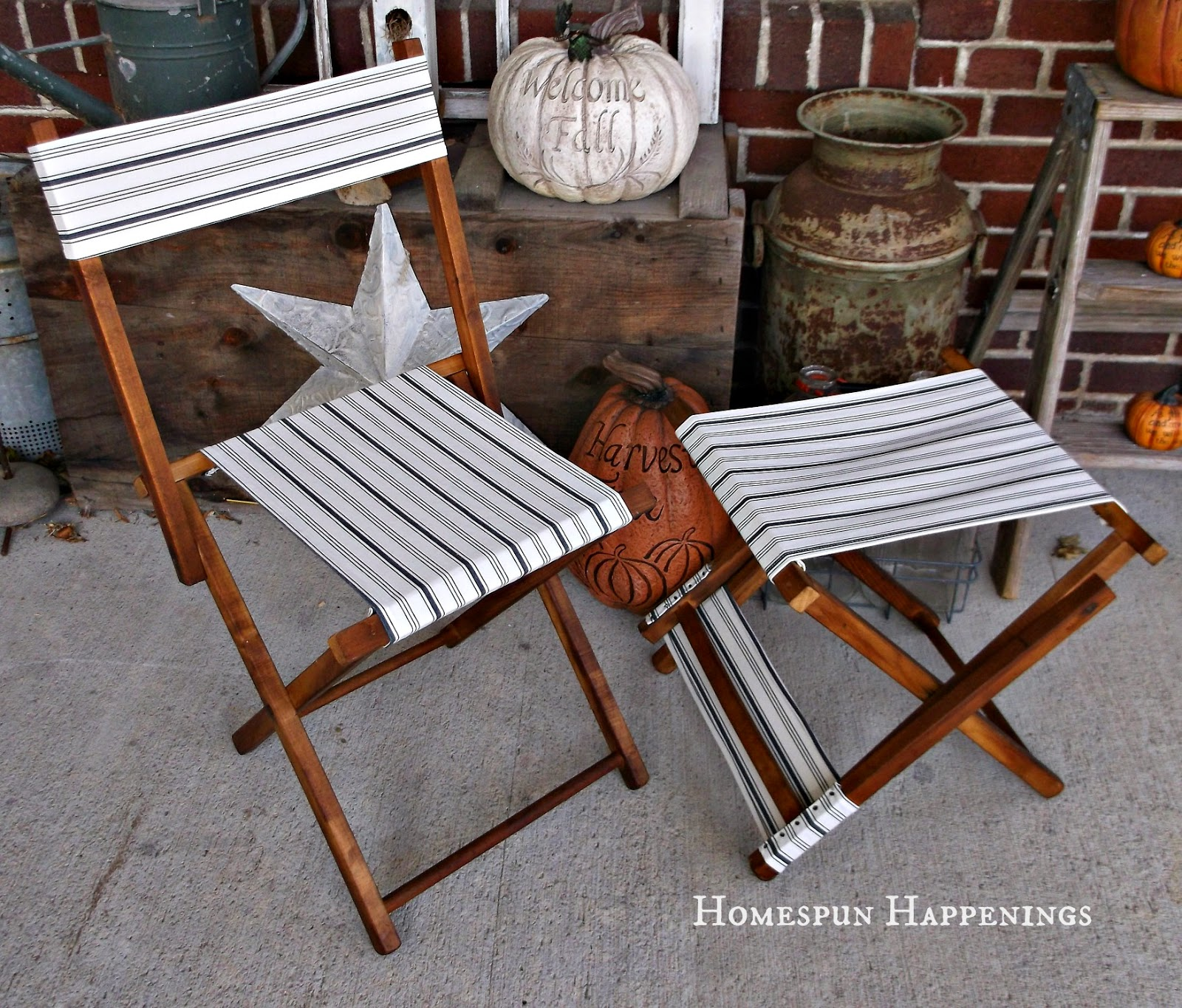 Vintage camping chair - What A Great Pair