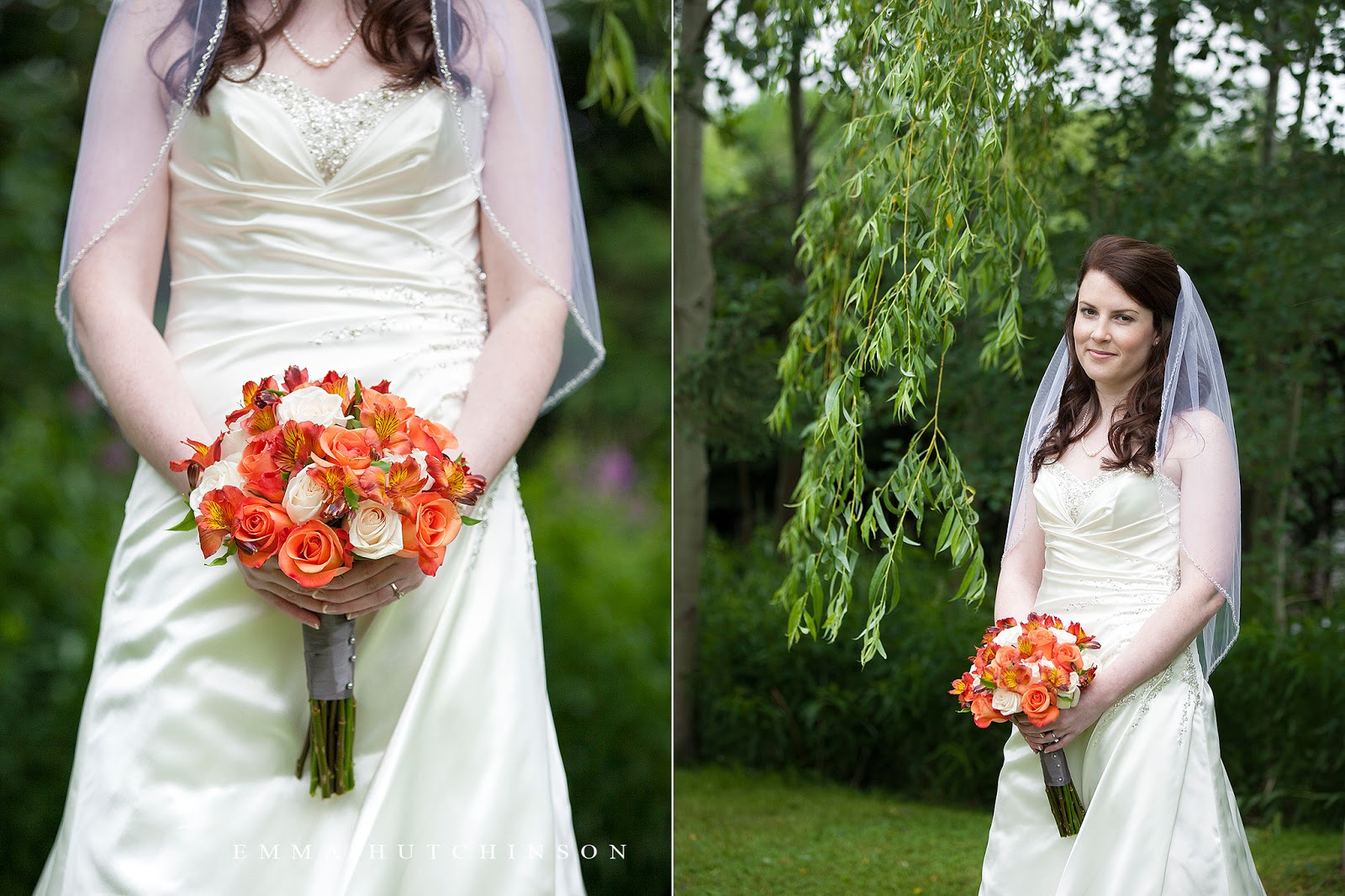 Bride wearing Maggie Sottero wedding dress