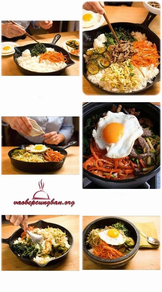 Cách làm cơm trộn Hàn Quốc dễ giền vô cùng đơn giản 1