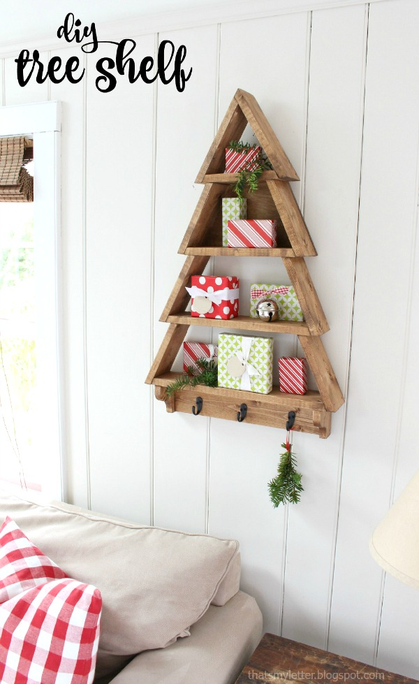 diy tree shelf free plans