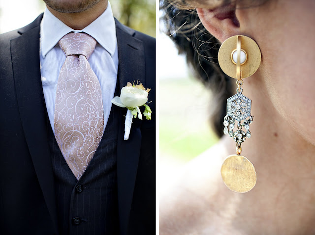 Groom's Attire by Modern Day Dapper, Jewelry by Stephanie Lake Design