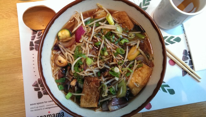 tofu ramen at wagamamas
