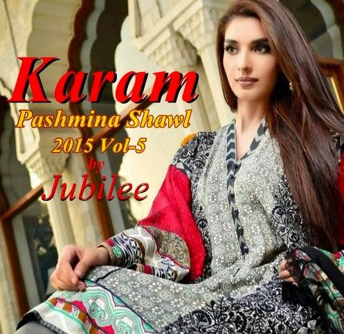 Jubilee Karam Pashmina Shawl 2015 Vol-5