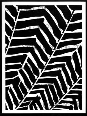 """9""""X12"""" stencil MIMOSA"""