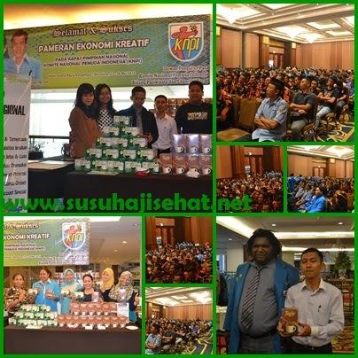Pertemuan KNPI se Indonesia bersama SUSU HAJI SEHAT di Bandung