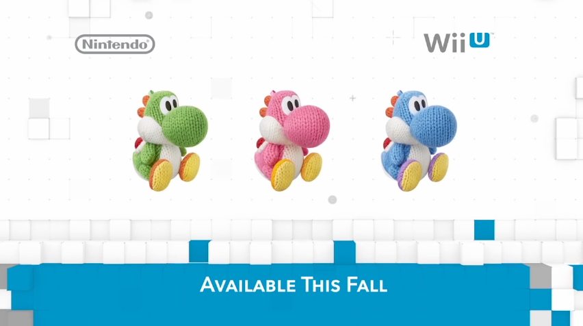 Green pink light blue Yarn Yoshi Amiibo Yoshi's Woolly World Nintendo Direct