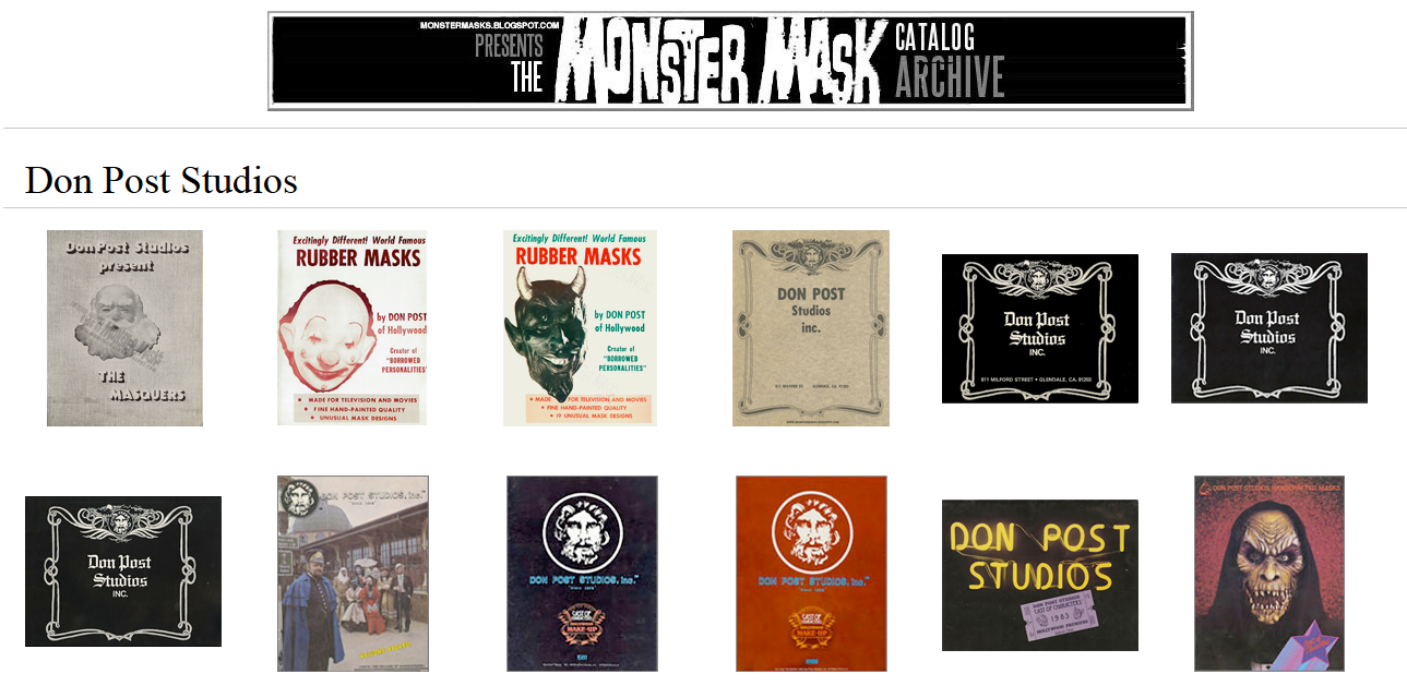http://monstermasks.blogspot.com/2015/02/expanded-monster-mask-catalog-archive.html