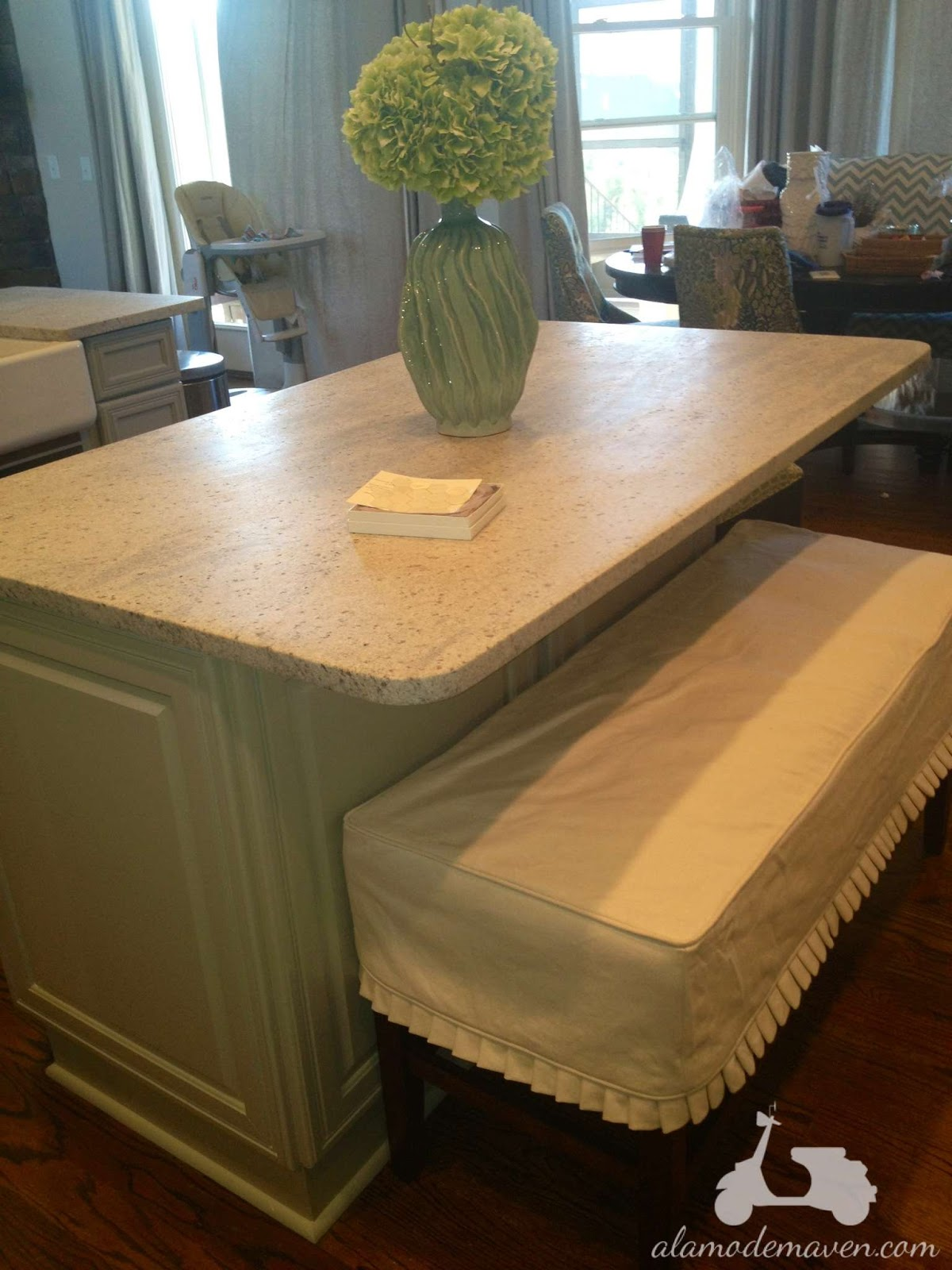 Kashmir White Granite Kitchen Alamode The Kashmir White Granite Is Installed