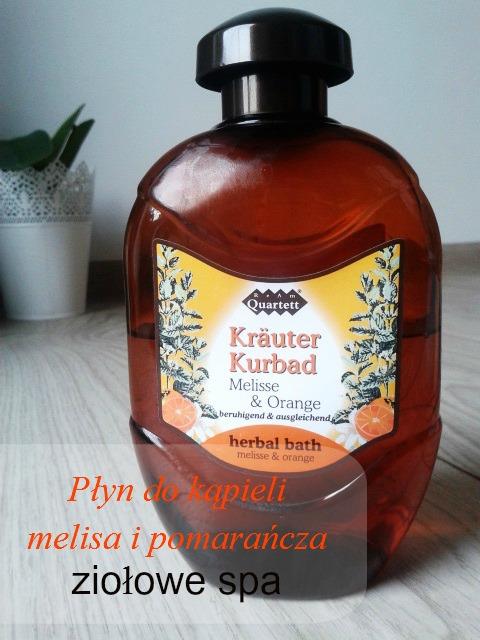 Płyn do kąpieli Herbal Bath - melisa i pomarańcza .