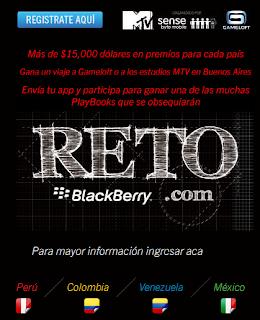 Con el patrocinio de Gameloft, MTV y RIM, llega a Venezuela una espectacular competencia para desarrollar aplicaciones para el BlackBerry PlayBook tablet BlackBerry® presenta un nuevo reto para los diseñadores y desarrolladores de aplicaciones móviles en Venezuela: «Reto BlackBerry para Desarrolladores», una competencia para desarrollar aplicaciones para el BlackBerry® PlayBook™ tablet en donde el desafío es crear tu propia aplicación, aunque no tengas experiencia en la plataforma. El objetivo de «Reto BlackBerry para Desarrolladores» es darle la gran oportunidad a miles de jóvenes programadores en Venezuela que sueñan con la posibilidad de trascender y desarrollar una aplicación que pueda ser
