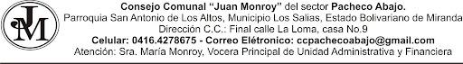 "Concejo Comunal ""Juan Monroy"" Pacheco abajo"