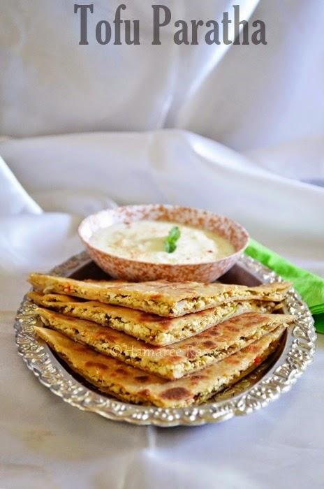 tofu paratha   indian bread with tofu