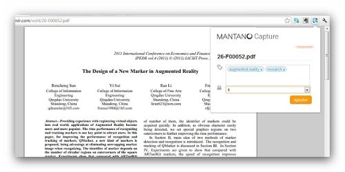Mantano Capture ebook Chrome Extension