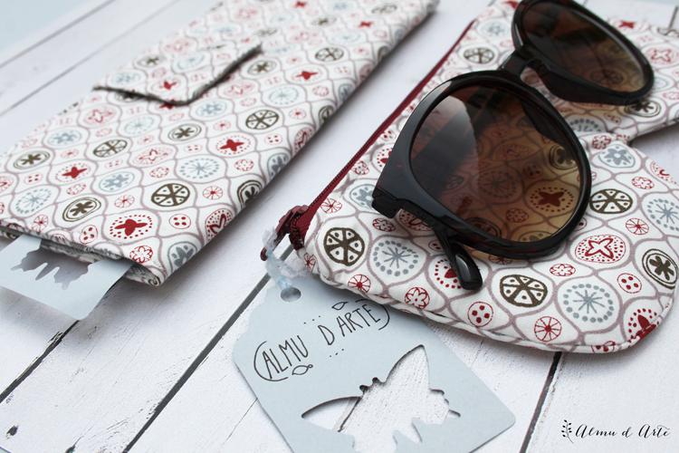 Billetera y funda para gafas handmade