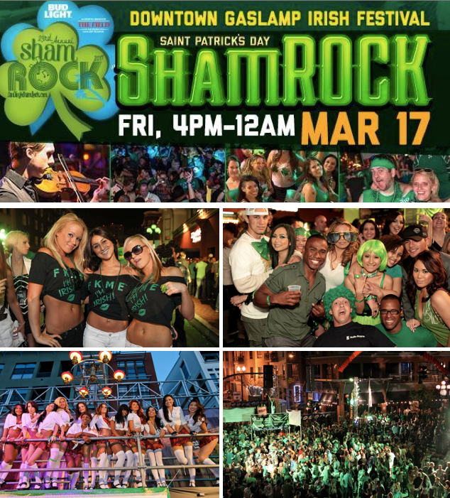 Save on passes & Enter to win tickets to San Diego ShamROCK St. Patrick's Day Festival - March 17!