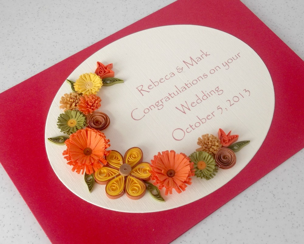 Paper Daisy Cards: Another quilled wedding card