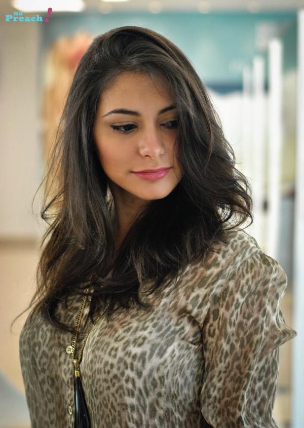 Bárbara Urias - corte de cabelo desfiado em camadas