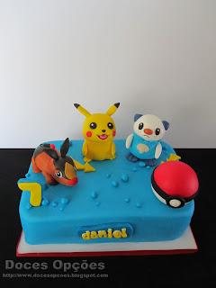pokemon pikachu Oshawott Tepig cake