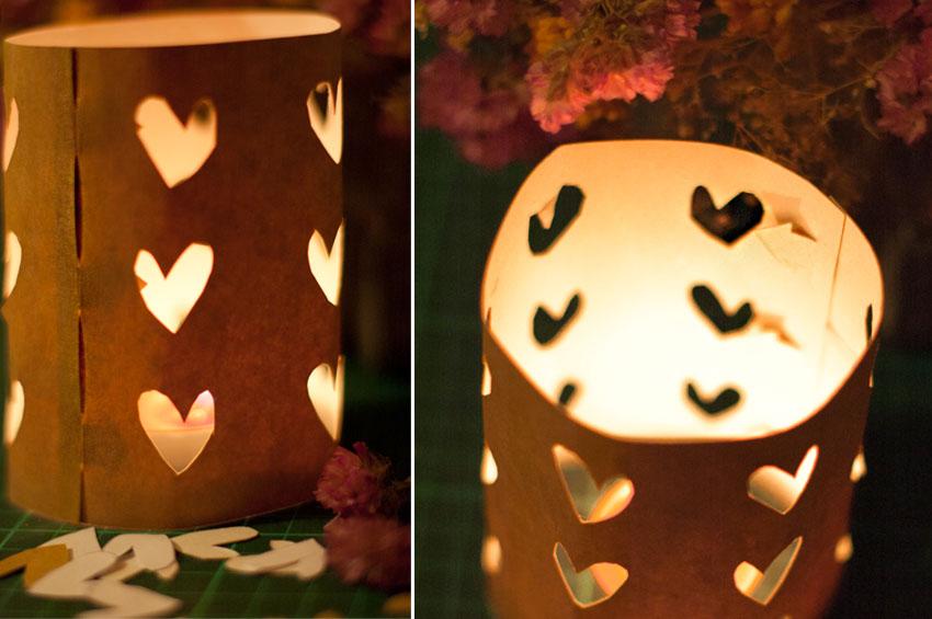 Com muntar la làmpada de cors per Sant Valentí. Fotografia ©Imma Mestre Cunillera