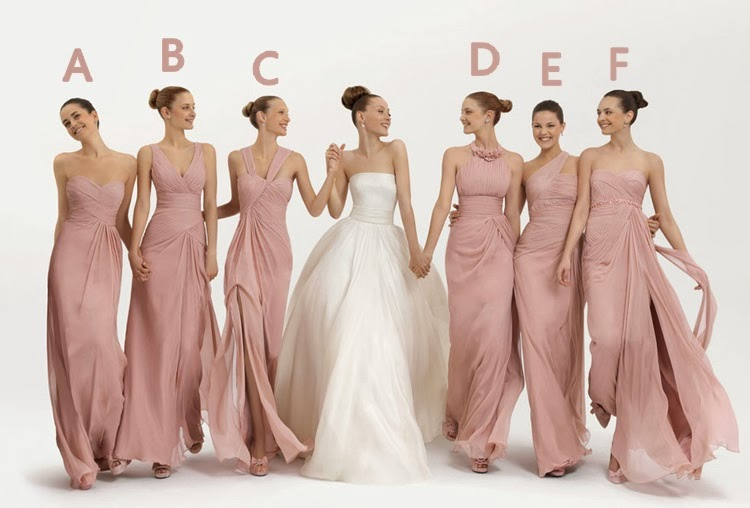 Flamingo Pink 6-Design Bridesmaid Long Dress