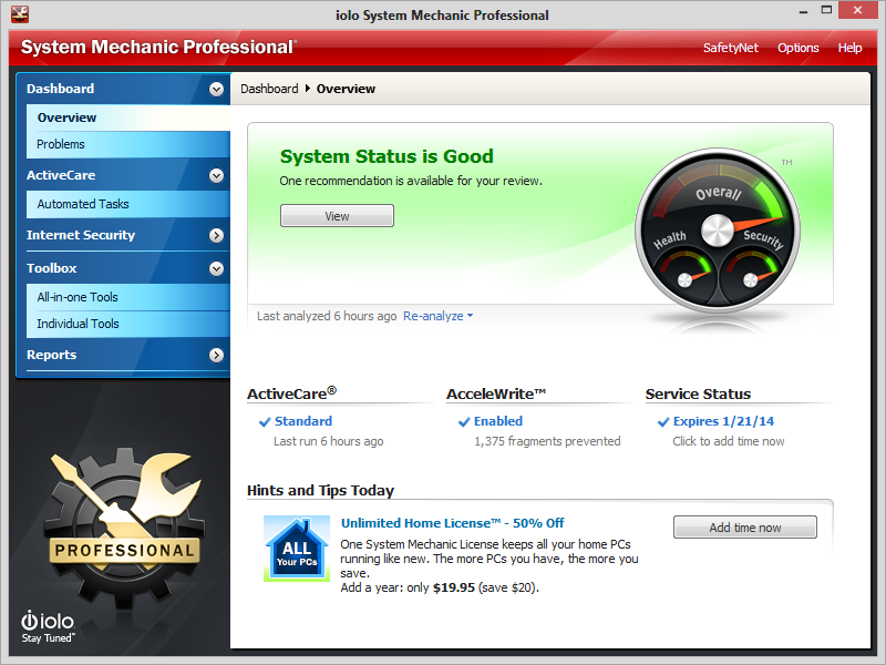 System Mechanic Professional Serial Key Free Download