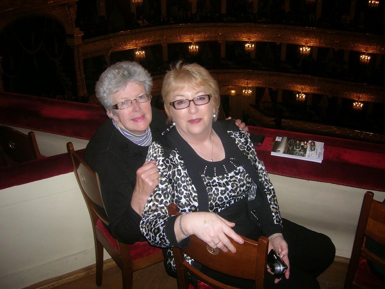 Ann Mc Loughlin and I at the Theatre.