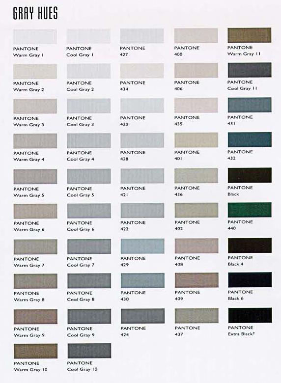 Fenixavisunica escala de grises for Gama de grises para paredes