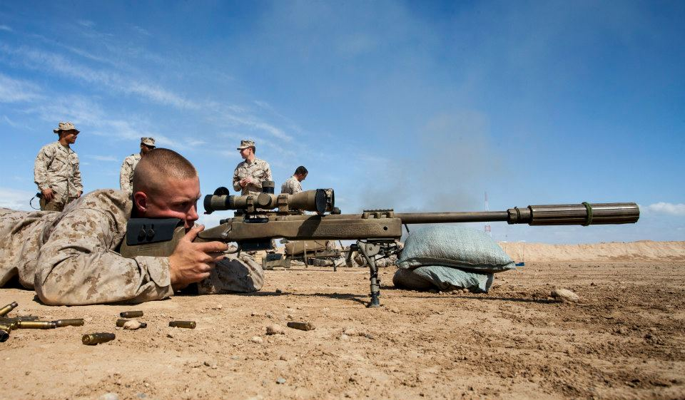 USMC Scout Snipers with his M40A5 Sniper Rifle in Afghanistan ...