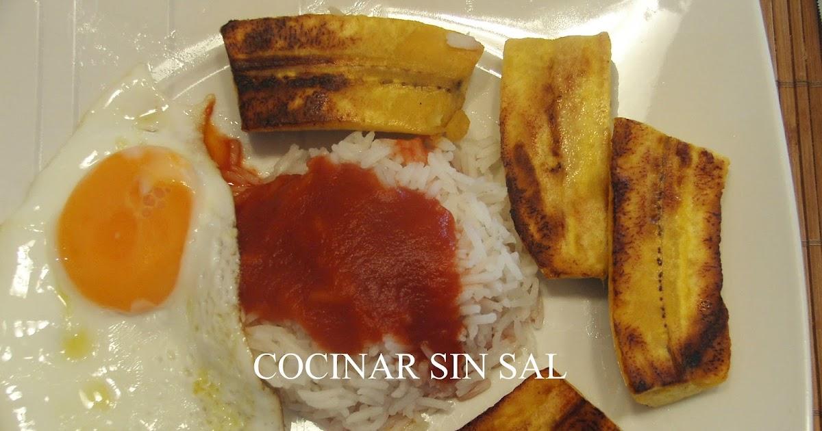 Cocinar sin sal arroz a la cubana sin sal - Cocinar sin sal ...