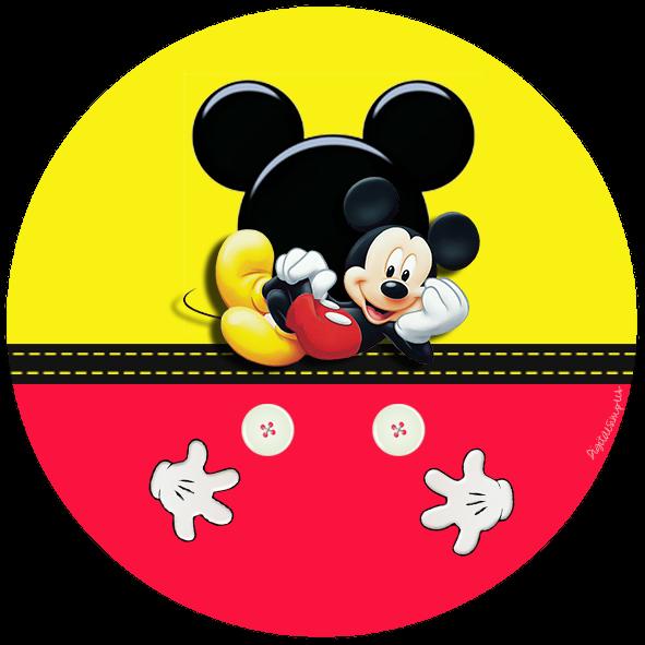 Kit de Mickey en Rojo y Amarillo para Imprimir Gratis. | Ideas y ...