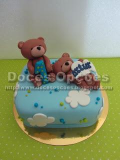 bolo aniversário ursinhos