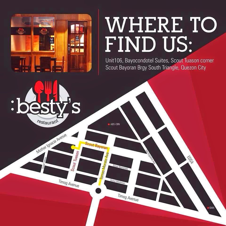 Besty's Restaurant Map - How to Get There?