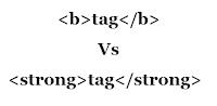 bold vs strong tag