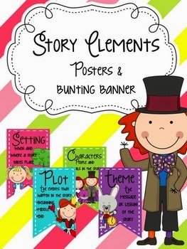 http://www.teacherspayteachers.com/Product/Story-Elements-Posters-and-Bunting-Banner-1374383