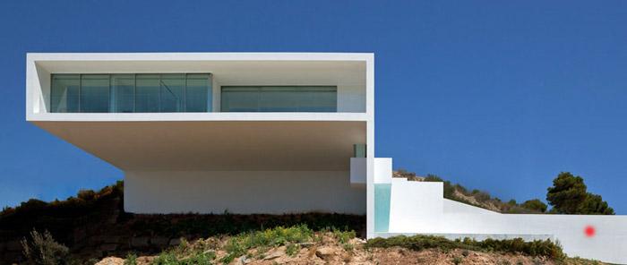 Casas minimalistas y modernas casa minimalista en calpe - Casas minimalistas en espana ...