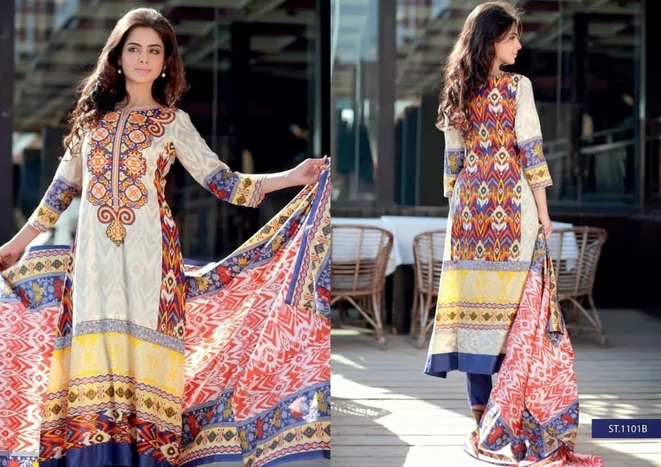 Gorgeous Long Shirt In Printed Lawn