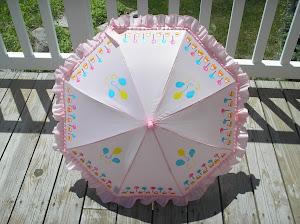 pink lollipop parasol