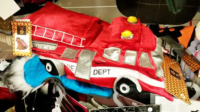 Red fire engine coat for dogs
