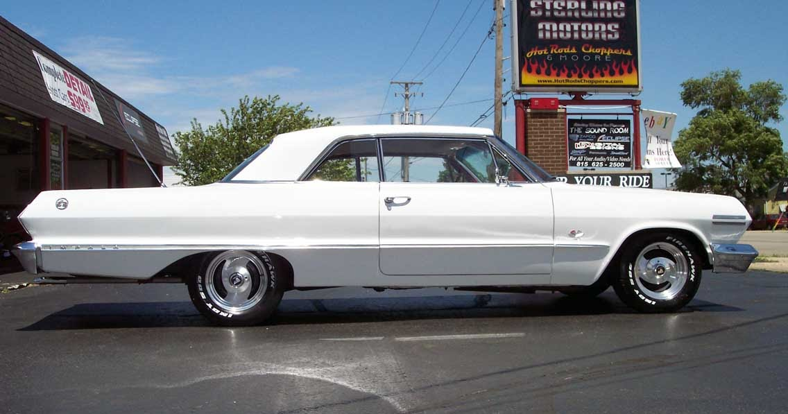 i love muscle cars white chevrolet impala 1963 super sport. Black Bedroom Furniture Sets. Home Design Ideas