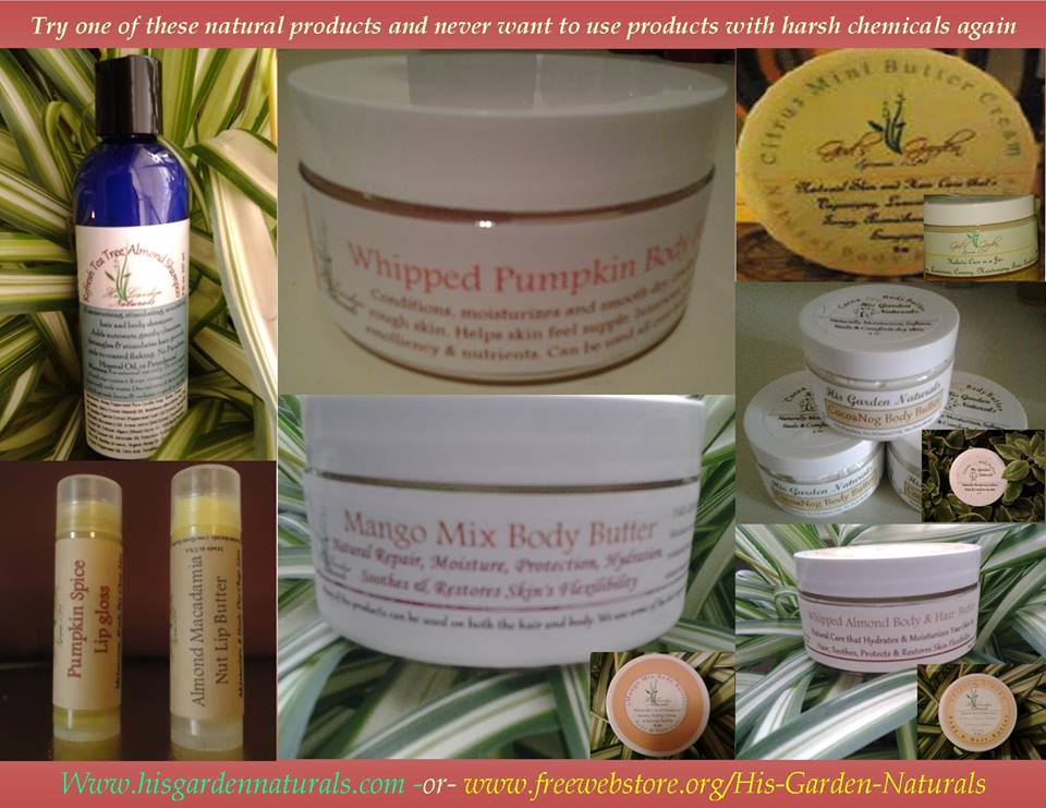 HIS GARDEN NATURALS-PRODUCTS BY CHERYL