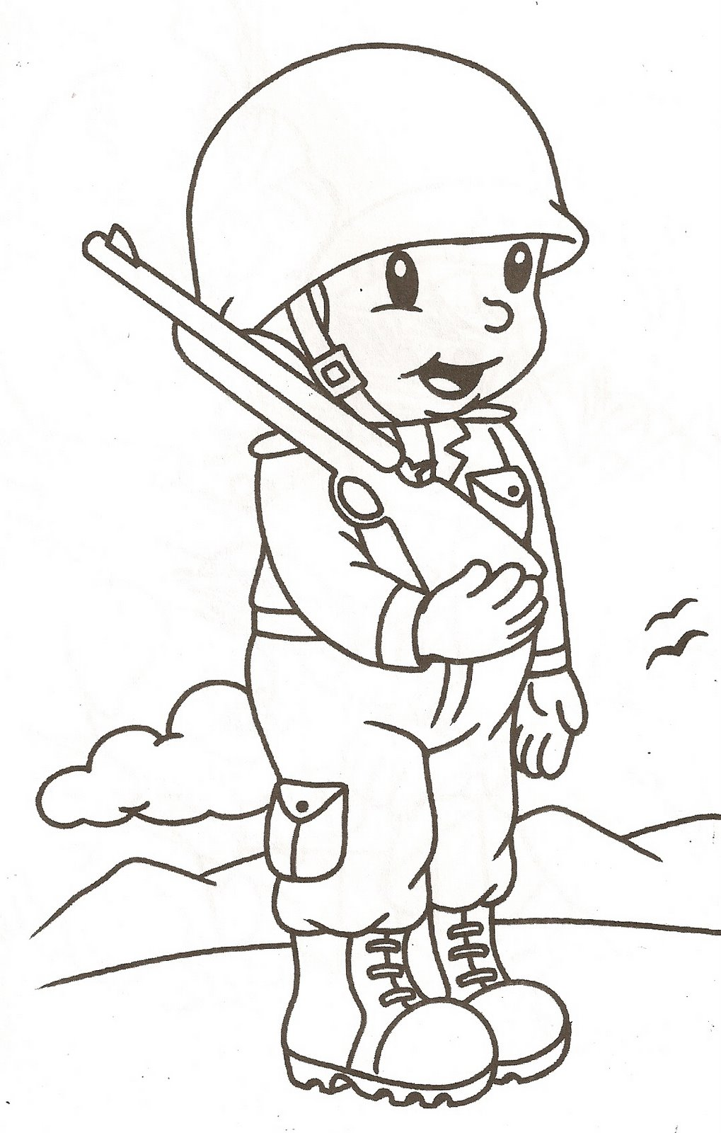 Dibujos para colorear de soldados - Dibujos de cocineros para colorear ...