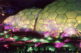 Eden Project, Cornwall at night