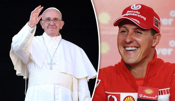 Pope praying for Michael Schumacher