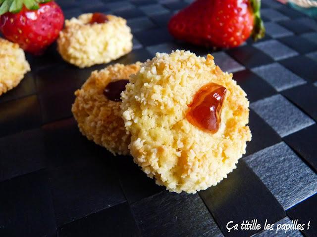 Pâtisserie orientale, Ça titille les papilles !, Amandes, confiture de fraises